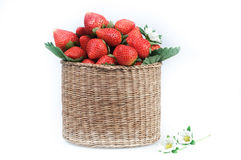 A basket of strawberries Royalty Free Stock Image