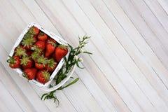 Basket of Strawberries Stock Photos