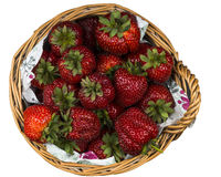 Basket of strawberries on white background Stock Image