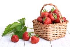 Basket of strawberries Stock Photo