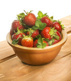 Basket with strawberries Stock Photo