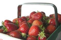basket strawberry Royaltyfri Fotografi