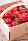 Basket with strawberry. Royalty Free Stock Photography