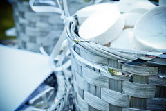 Basket of streamers Stock Image