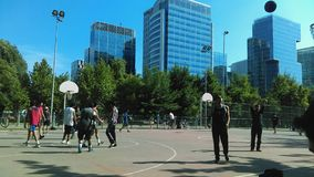 Basket street Royalty Free Stock Images