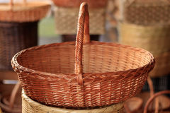 Basket in street market Royalty Free Stock Images
