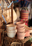 Basket in street market Stock Photography