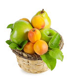 A basket of summer fruit Royalty Free Stock Photography