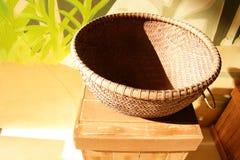 Basket in the sunlight stock photos
