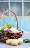 Basket on the table Royalty Free Stock Photo