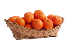 Basket tangerine Royalty Free Stock Image