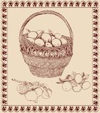 Basket with tangerines Royalty Free Stock Image