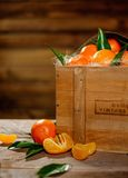 Basket with tasty tangerines Royalty Free Stock Photo