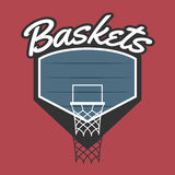 Basket Team Logo Royaltyfri Bild