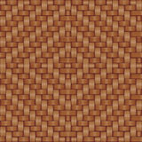 Basket texture. Abstract decorative basket weaving background. Seamless pattern. Vector Royalty Free Stock Images