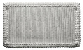Basket Texture Weave Pattern, White Wicker Table Top Royalty Free Stock Photos