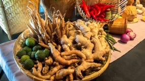 Basket of Thai Herbs Royalty Free Stock Image