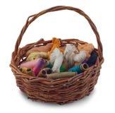 A basket of thread Stock Photos