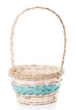 Basket to celebrate Easter on a white background Royalty Free Stock Photo
