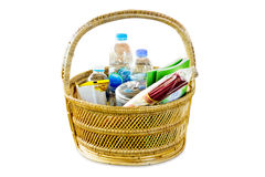 Basket to measure,The basket to the merit.  Royalty Free Stock Photos
