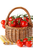 Basket of tomatoes. Royalty Free Stock Photos