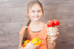 Basket of tomatoes Royalty Free Stock Photos