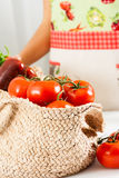 Basket of tomatoes Stock Image