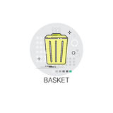 Basket Trash Bin Garbage Icon Royalty Free Stock Photo
