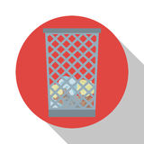 Basket trash office icon shadow Royalty Free Stock Photography