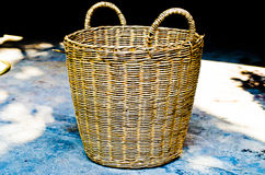 Basket. Under the tree in sunlight royalty free stock photography