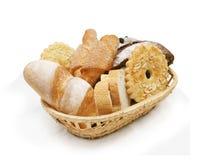Basket of various bread Stock Photos