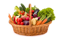 Basket with various fresh vegetables Stock Photography