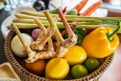 Basket of various kinds of vegetable Stock Image