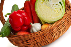 Basket with vegetable - 2 Royalty Free Stock Image