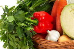 Basket with vegetable - 4 Stock Photography