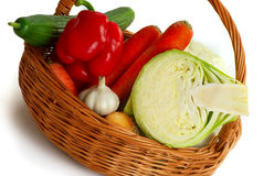 Basket with vegetable Royalty Free Stock Images