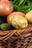Basket of vegetables Stock Images
