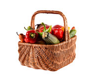 Basket with vegetables Royalty Free Stock Image