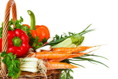 Basket of vegetables. Royalty Free Stock Photo