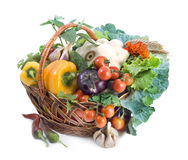 Basket with vegetables Royalty Free Stock Photo