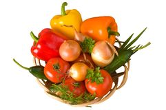 Basket with vegetables. Stock Photo