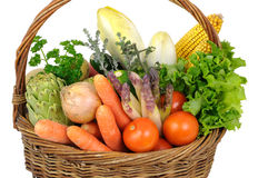 Basket of vegetables royalty free stock image