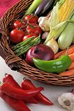 Basket with vegetables. Royalty Free Stock Photography
