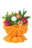 A basket of vegetables, carved vegetables. Royalty Free Stock Photos