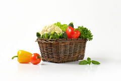 Basket of vegetables Stock Photos