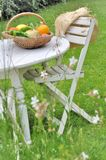 Basket of vegetables in garden Stock Image