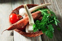 Basket of vegetables Royalty Free Stock Photo