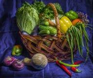 Basket with vegetables. Nimage of basket with fresh vegetables Royalty Free Stock Image