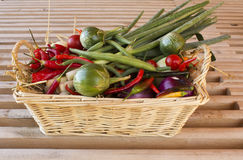 Basket of vegetables Stock Photo