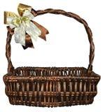 Basket vine Bow ribbon gift royalty free stock image
